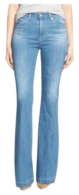 Item - Blue Medium Wash Janice High Rise Flare Leg Jeans Size 26 (2, XS)