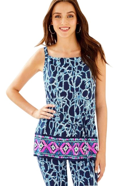 Item - High Tide Navy Lucky Bamboo Engineered Adley Tank Top/Cami Size 8 (M)