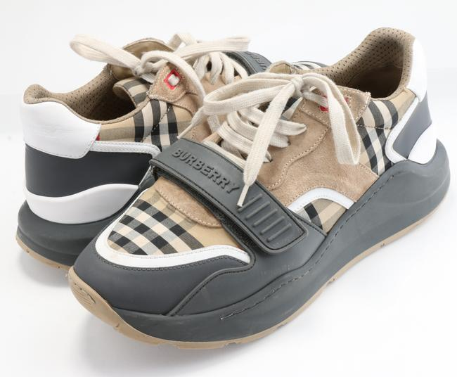 Item - Multicolor Vintage Check Suede and Leather Sneakers Shoes