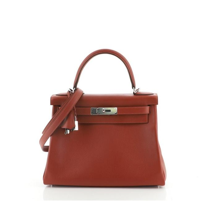 Item - Kelly Handbag Verso Evercolor with Palladium Hardware 28 Sienne (Brown) Leather Tote