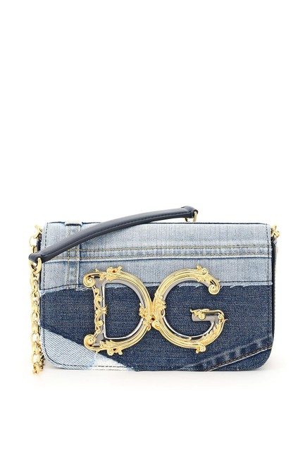 Item - Mini Bag Dolce & Gabbana Patchwork Denim Dg Girls Baroque Multicolored Tote