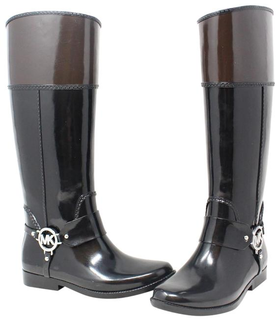 Item - Black and Brown Rainboots Boots/Booties Size US 6 Regular (M, B)