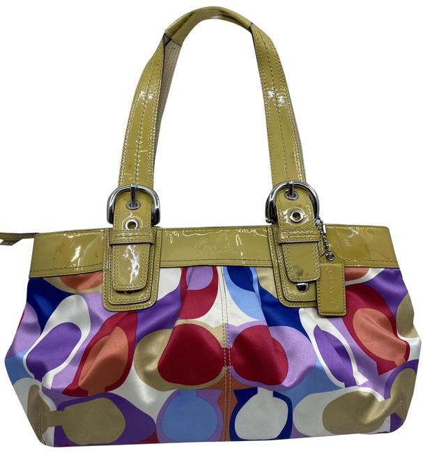 Item - Bag Purple Blue Red Fabric Tote