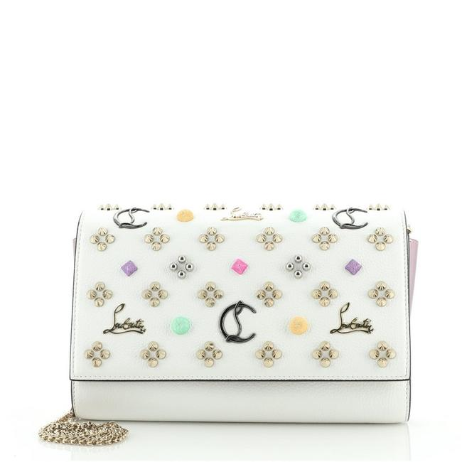 Item - Clutch Paloma Embellished Small White Leather Cross Body Bag
