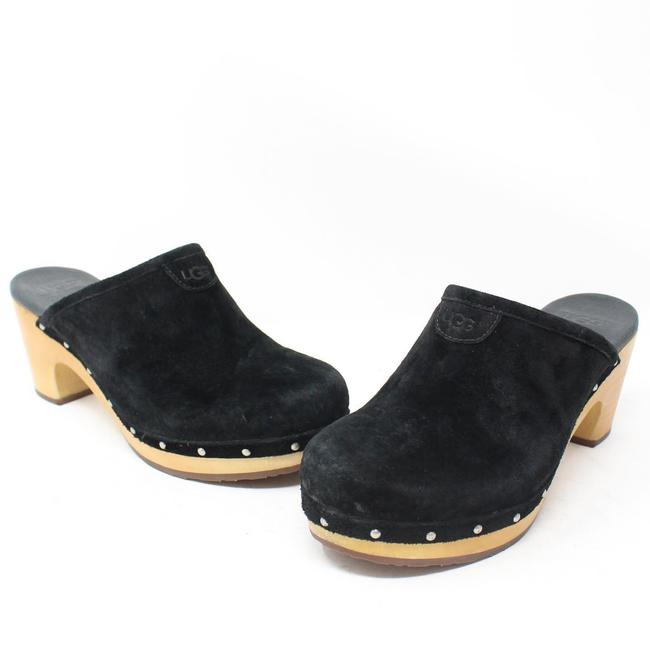 Item - Black Velvet Mules/Slides Size US 6 Regular (M, B)