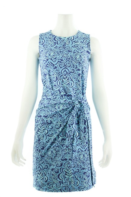 Item - Blue XS Abstract Print Mid-length Short Casual Dress Size 0 (XS)
