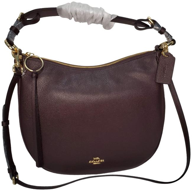 Item - Sutton Crossbody New Classic Polished Pebble Two Way Oxblood Leather Hobo Bag