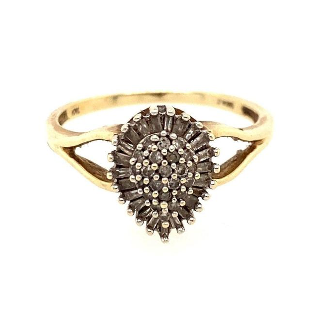 Item - Gold 10k Pear-shaped Round/Baguette Diamond Ring