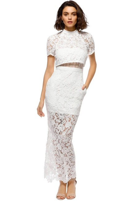 Item - White Marcela Long Formal Dress Size 6 (S)