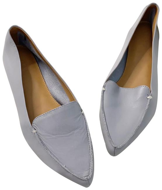 Item - Gray Edie Leather Pointed Toe Loafers Pumps Size US 9 Regular (M, B)