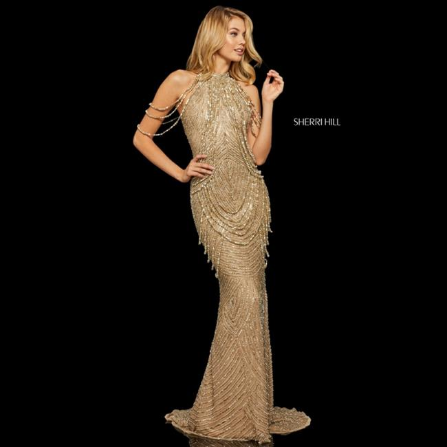 Item - Gold Style#52949 Long Formal Dress Size 4 (S)