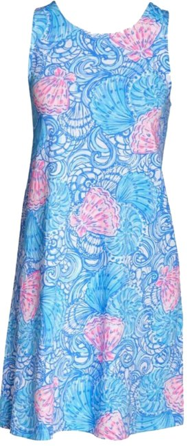Item - Blue/Pink XS Kristen Haven Raising Shell Short Casual Dress Size 2 (XS)