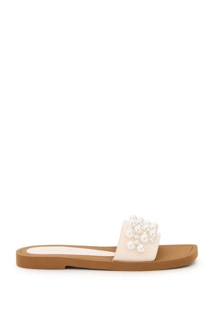 Item - Multicolored Goldie with Pearls Mules/Slides Size EU 38 (Approx. US 8) Regular (M, B)