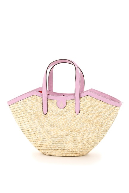 Item - Madeline Straw Basket Multicolored Tote