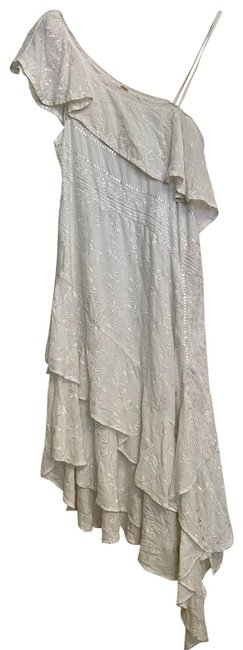 Item - White Asymmetrical Embroidered Layered S Formal Dress Size 6 (S)