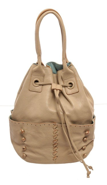 Item - Light Yellow Bucket Bag Leather Wallet