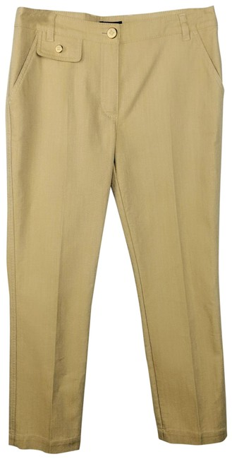 Item - Gold Medium Wash Tapered Leg Capri/Cropped Jeans Size 30 (6, M)