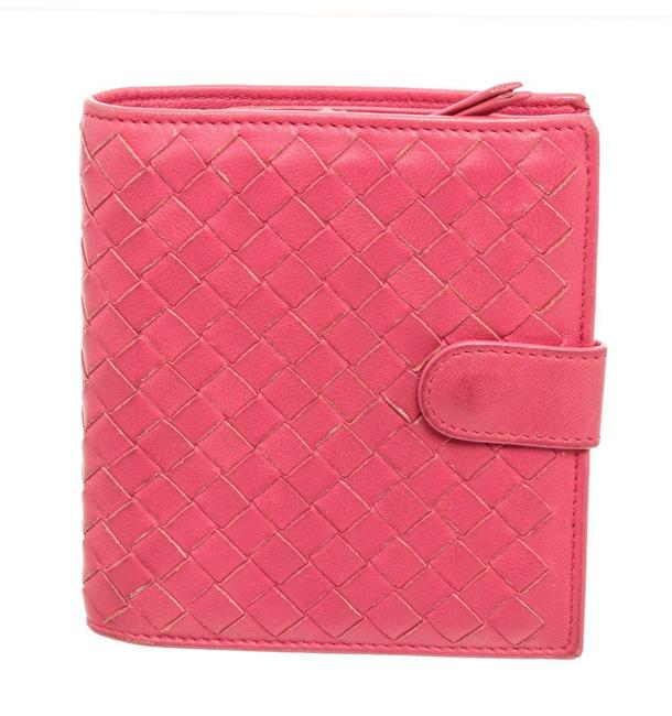Item - Pink Leather Compact Wallet