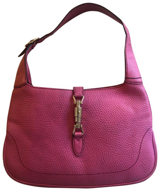 Item - Jackie Pink Leather Hobo Bag
