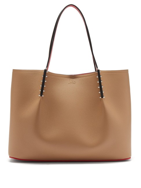 Item - Bag Cabarock Large Grained-leather Beige Brown Leather Tote
