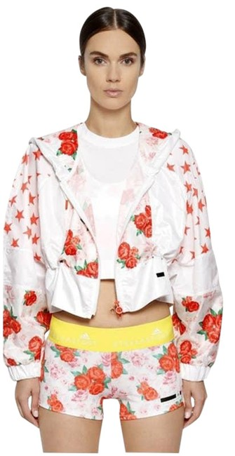 Item - White Star and Roses Crop Windbreaker Womens S Activewear Size 4 (S)