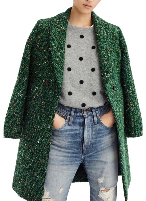 Item - Green Daphne In Italian Tweed Coat Size 2 (XS)