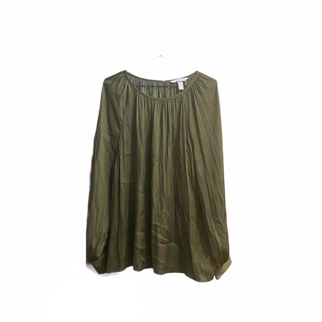 Item - Olive Green Satin In Blouse Size 10 (M)