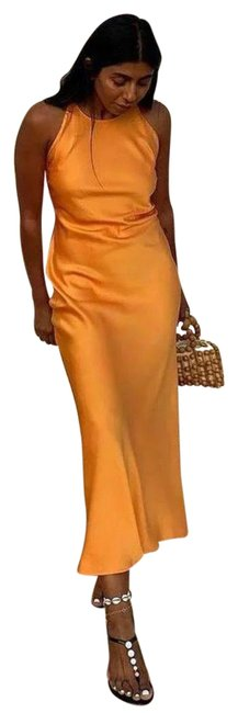 Item - Orange Slip Long Casual Maxi Dress Size 2 (XS)