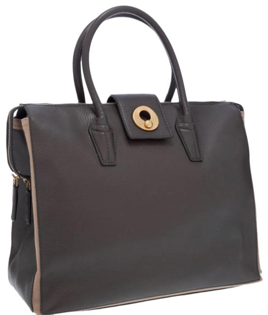 Item - Muse Two Bag Cabas Yves Charcoal Gray Leather Tote