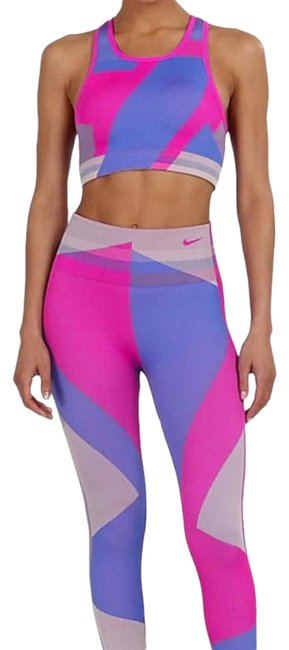 Item - Pink and Blue Sculpt Icon Clash Activewear Bottoms Size 8 (M, 29, 30)