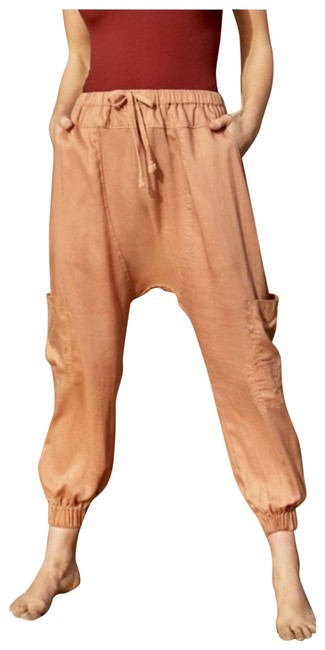 Item - Tan Rise To The Sun Harem Sand Shell Activewear Bottoms Size 2 (XS, 26)