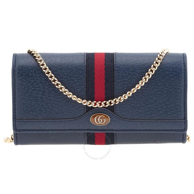 Item - Blue on Chain Ophidia Leather Continental Wallet