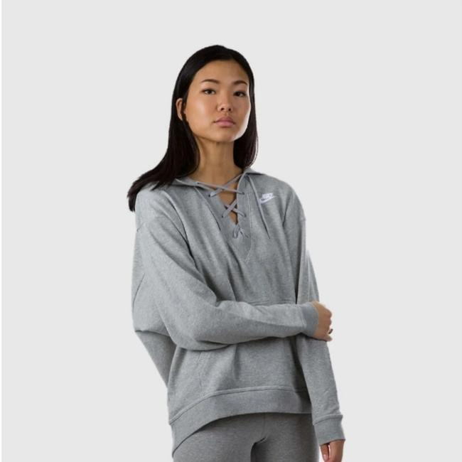 Item - Grey Club Sportswear Lace Up Pullover Activewear Outerwear Size 4 (S)