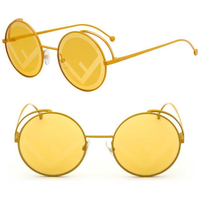 Item - Yellow rama Ff0343s - Fmp/0m Round Frame Logo Metal Sunglasses