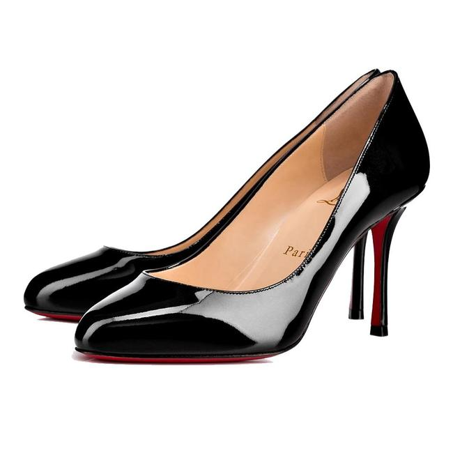 Item - Black Merci Allen 85mm Patent Leather Red Sole Pumps Size EU 37 (Approx. US 7) Regular (M, B)