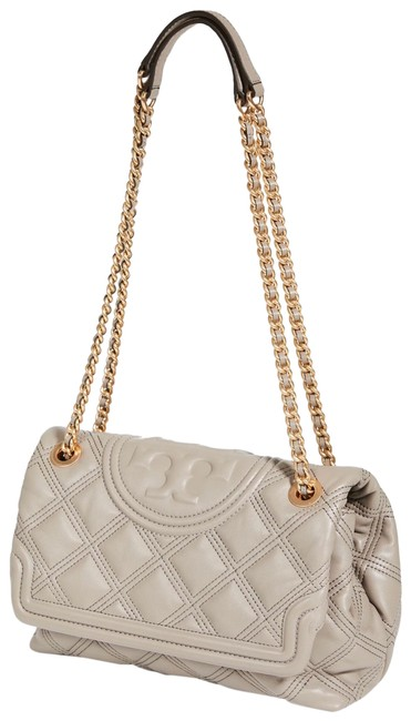 Item - Fleming Quilted Grey Heron Leather Cross Body Bag