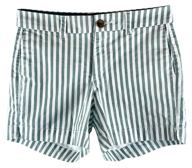 Item - Green White Striped 4-pocket Shorts Size 0 (XS, 25)