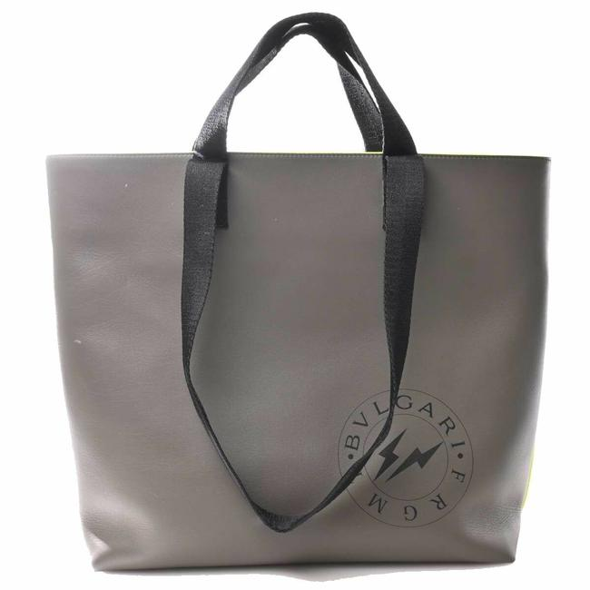 Item - Bag Fragment Gray Leather Tote