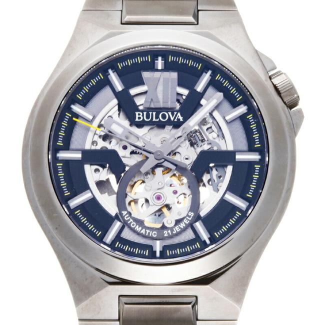 Item - Classic Makina Men's 98a179 Stainless Steel Skeleton Dial Watch