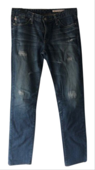 Item - Blue Coated Relaxed Fit Jeans Size 6 (S, 28)