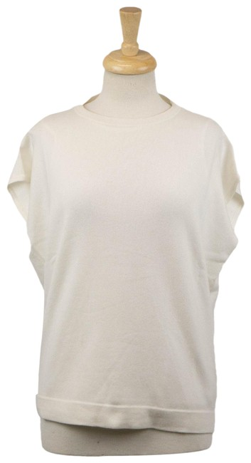 Item - Cashmere Crewneck Blouse Set Size M White Sweater