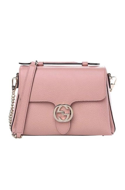 "Item - Interlocking ""Gg"" Dusty Rose 510306 5209b1 Pink Leather Cross Body Bag"