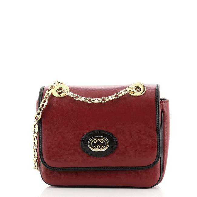 Gucci Flap Marina Chain Mini Red Leather Cross Body Bag Gucci Flap Marina Chain Mini Red Leather Cross Body Bag Image 1