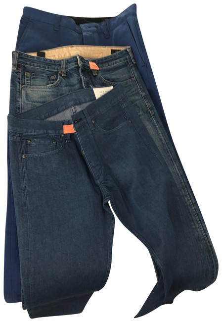 Rag & Bone Blue (5) Pairs Of and Mens Denim Buy One Get 2nd At 50% Off Straight Leg Jeans Size 10 (M, 31) Rag & Bone Blue (5) Pairs Of and Mens Denim Buy One Get 2nd At 50% Off Straight Leg Jeans Size 10 (M, 31) Image 1