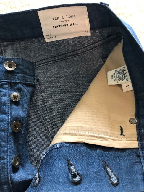 Rag & Bone Blue (5) Pairs Of and Mens Denim Buy One Get 2nd At 50% Off Straight Leg Jeans Size 10 (M, 31) Rag & Bone Blue (5) Pairs Of and Mens Denim Buy One Get 2nd At 50% Off Straight Leg Jeans Size 10 (M, 31) Image 10