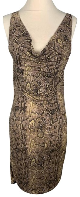 Item - Brown Snake Print Indre Short Casual Dress Size 8 (M)