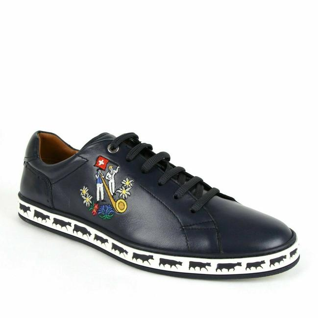 Item - Blue Men's Anistern Nappa Leather Low-top Sneakers Us 9.5 / 10 Shoes