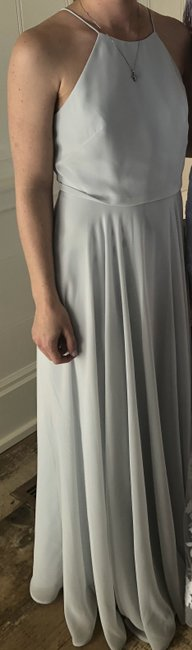 Item - Serenity Blue Luxe Chiffon Luca Traditional Bridesmaid/Mob Dress Size 2 (XS)