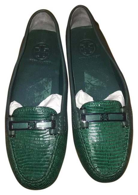Item - Green Penny Loafer Flats Size US 8.5 Regular (M, B)