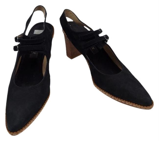 Item - Black Suede Leather Pointed Pumps Size US 7 Narrow (Aa, N)